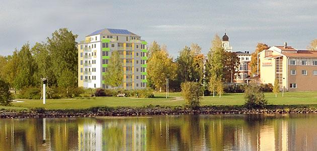 Passivhus med guldvittring i Bollnäs